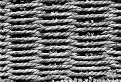 Flätad grå korgtextur Royaltyfri Fotografi