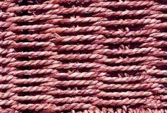 Flätad purpurfärgad korgtextur Royaltyfria Foton