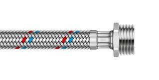 Flätad slang för vektor vatten med den yttre skruven Arkivfoton