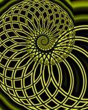 flätad spiral vektor illustrationer