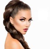 Flätad tråd för hår Royaltyfri Foto