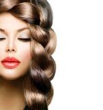 Flätad tråd för hår Arkivbilder