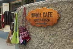 Flätan fixas för att leda in mot ett kafé i hunza Fotografering för Bildbyråer