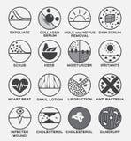 Flå blekmedel för fuktighetsbevarande hudkräm för skydd för ögonfrans för symbolshårpor uv royaltyfri illustrationer