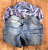 Flåsanden för materiell modell för jeansman gamla Royaltyfri Foto