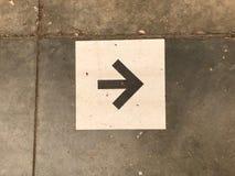 Flèche 2ème de plancher Image libre de droits
