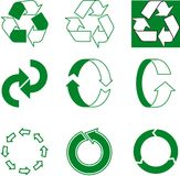 Flèche écologique Photo libre de droits