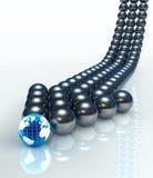 Flèche abstraite de sphères Photographie stock libre de droits