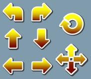 flèche arrondie Illustration Libre de Droits