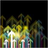 Flèche ascendante d'abstrait Image stock