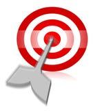 Flèche au milieu de tir à l'arc Illustration Stock
