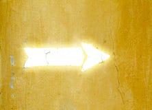 Flèche blanche Photographie stock libre de droits