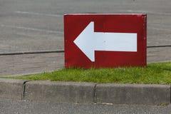 Flèche blanche Photo stock