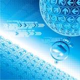 Flèche bleue abstraite Images stock
