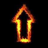 Flèche brûlante Images stock