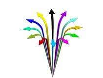 Flèche colorée créative dans 3D illustration de vecteur