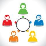 Flèche colorée de point de gens illustration libre de droits