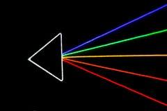Flèche colorée, effet de la lumière de LED Photo libre de droits