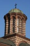 Flèche d'église à Bucarest Photographie stock