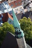 Flèche d'église de St Olaf image libre de droits