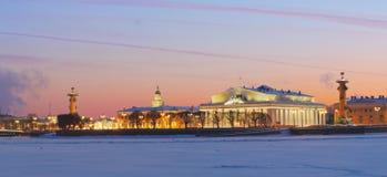 Flèche d'île St Petersburg de Vasilevsky Image libre de droits