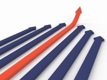 Flèche d'affaires Image stock