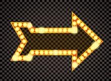 Flèche d'ampoule illustration libre de droits