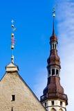 Flèche d'hôtel de ville de Tallinn photographie stock libre de droits