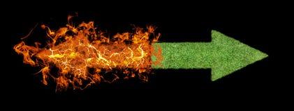 Flèche d'herbe verte, flèche en hausse de flamber illustration de vecteur