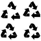 Flèche d'utilisation et icône noires de flèches Photographie stock