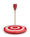 Flèche dans la cible 3D. heurter de réussite. Affaires Image stock