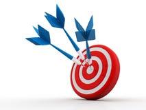 Flèche dans la cible 3D frapper de succès Concept d'affaires D'isolement sur le blanc illustration de vecteur