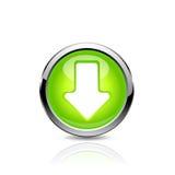 Flèche de bouton Photographie stock