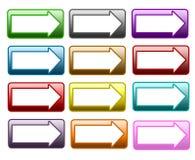 Flèche de bouton de Web Images stock