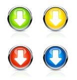 Flèche de bouton Vecteur Photos libres de droits