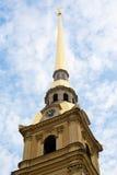 Flèche de cathédrale de Peter et de Paul Image stock