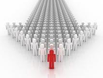 Flèche de concept de personnes. Images stock