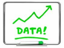 Flèche de conseil d'effacement de l'information de nombres de données Photographie stock libre de droits