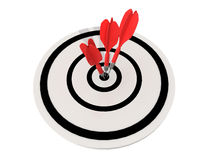 flèche de dard de 3 rouges Images libres de droits