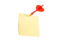 Flèche de dard et courrier collant Images libres de droits