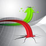 Flèche de diagramme de graphique de vecteur pour la stratégie commerciale Image libre de droits