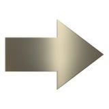 flèche de l'or 3d Photos stock