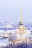 Flèche de l'Amirauté à St Petersburg, Russie Photo libre de droits