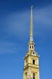 Flèche de la cathédrale de Peter et de Paul Images libres de droits