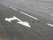 Flèche de marquage routier Image stock