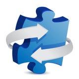 Flèche de morceau de puzzle Photo stock