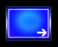 Flèche de signe Photographie stock libre de droits