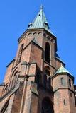 Flèche de Skt Knuds, église catholique, Aarhus, Danemark Photos libres de droits
