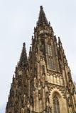 Flèche de St Vitus Cathedral Photographie stock libre de droits
