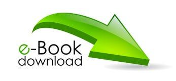 Flèche de téléchargement d'Ebook Photo libre de droits